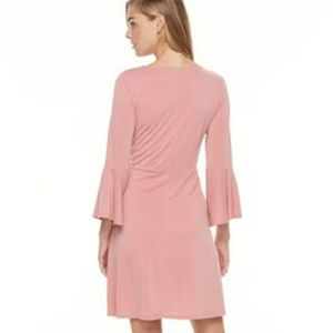 Apt 9 Pink Bell Sleeve Dress